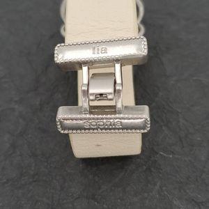Lia Sophia Jewelry - Lia Sophia Ivory Leather & Crystal Bracelet